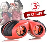 Niskite Toys for 3 4 5 Years Old Girl Gifts, Compact Small Binoculars for Kids,Best Birthday Gift for Girls Toys Age 6 7 8 9 10 Orange