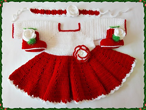 Buy hand crochet baby dresses - 8