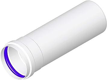 mistermoby Tubo de Aluminio Blanco Ø 80 mm LG 1500 mm X Caldera convencional, CE: Amazon.es: Bricolaje y herramientas