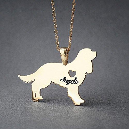 Personalised Cavalier King Charles Spaniel Necklace - Cavalier King Charles Spaniel Name Jewelry - Dog Jewelry - Dog breed Necklace - Dog Necklaces