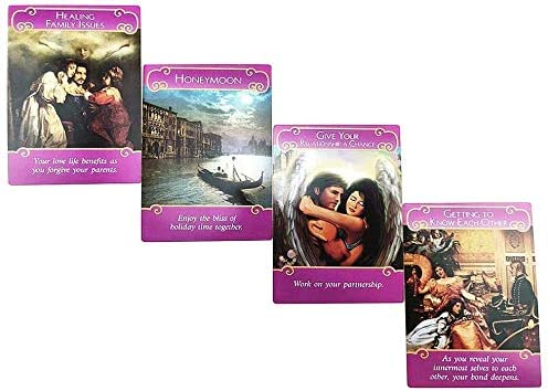 Nuova Serie Placcata in Oro Romance Angels Oracle Cards 44PCS Romance Angels Tarot Oracle Cards Deck Romance Angel Oracle Cards di Doreen Virtue Out of Print