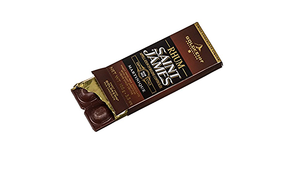 Goldkenn Barra de chocolate Ron de San Jaime 100 g: Amazon.es ...