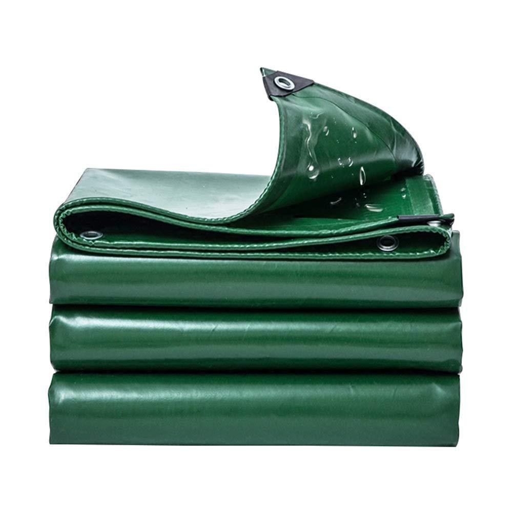 KF Outdoor-Campingplane, 100% wasserdichter UV-Schutz mit UV-Schutz, Sonnenschutz, Sonnenschutz, Swimmingpool-Plane, Canvas, 530g   m², Dicke 0,4 mm, grün