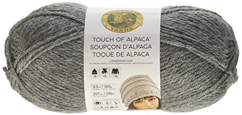 Lion Brand Yarn 674-150 Touch of Alpaca Yarn, Oxford Grey