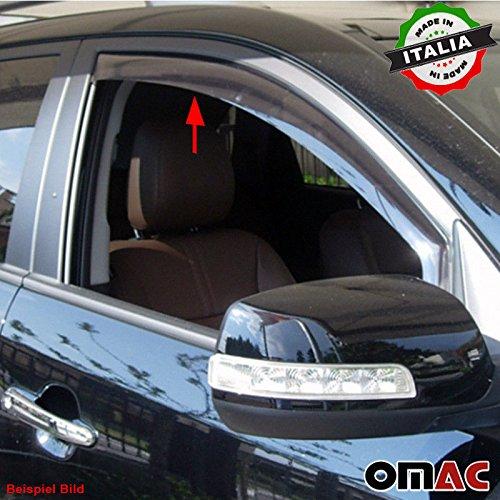 Omac GmbH Set Deflettori d'aria anteriori anti-pioggia, 2 pezzi