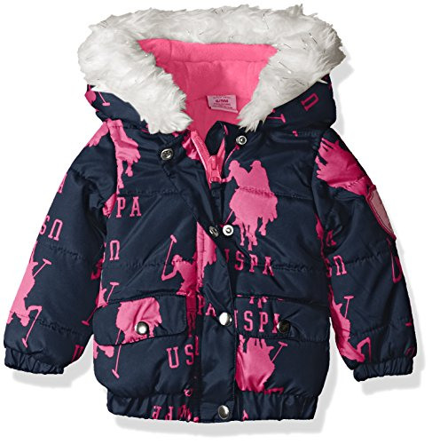us-polo-assn-baby-girls-pearlized-cire-hooded-jacket-navy-24-months