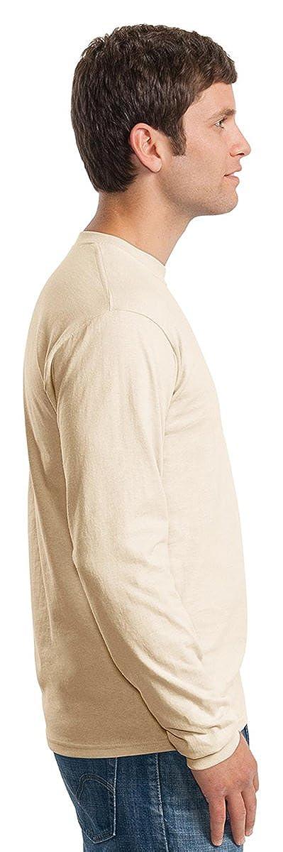 Gildan Mens Double Needle Bottom Hem Rib Knit T-Shirt