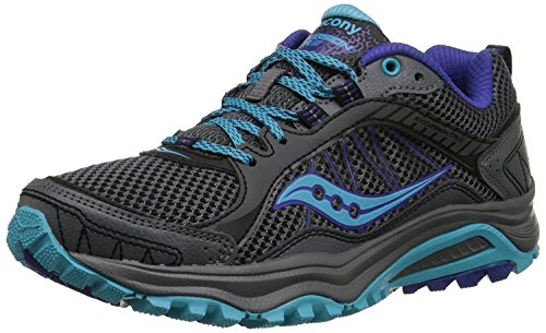Saucony Women's Grid Excursion TR9 Trail Running Shoe, Grey/Blue, 38 B(M) EU/5 B(M) UK