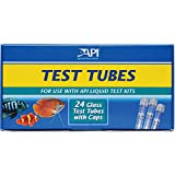 API Replacement Test Tubes with Caps for Any Aquarium Test Kit Including Freshwater Master Test Kit 24Count Box