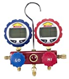 Robinair 43180 Aluminum 2-Way Manifold Digital Gauge Set for use with 17 Common Refrigerants