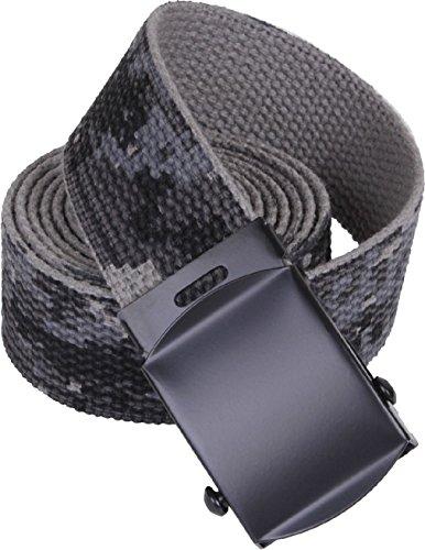 Subdued Urban Digital Camouflage Reversible Cotton Web Belt w/Black Buckle 54
