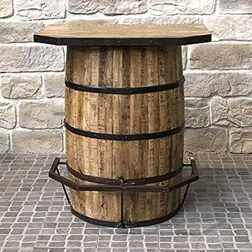 62e036ff69f34 L'ORIGINALE DECO Bar Tonneau FUT Repose Pied Industriel Campagne en Bois  90.50 cm