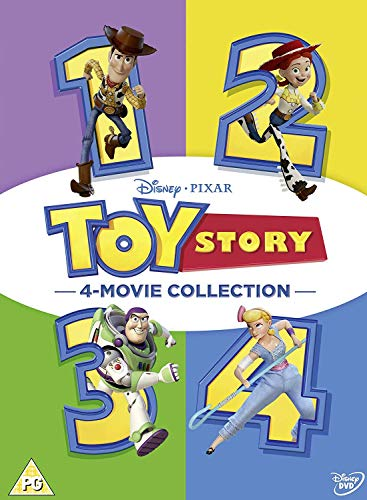 Toy Story 1-4 Boxset [Blu-ray] [2019] [Region Free] (Story 3d Toy Collection)