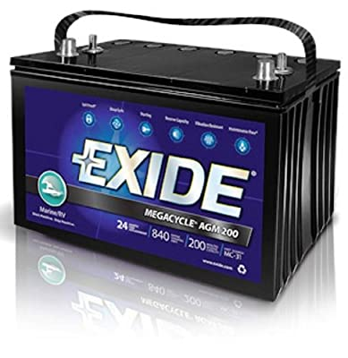Exide XMC-31 MEGACYCLE AGM-200 Sealed Maintenance Free (AGM) Marine Battery