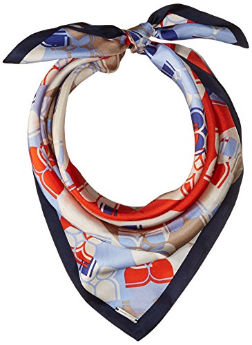 Butterfly Stripe Square Scarf, Blue Depths
