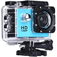 Boyiya 1080P HD Mini Waterproof Sports Recorder Car DV Action Camera Camcorder (Blue)