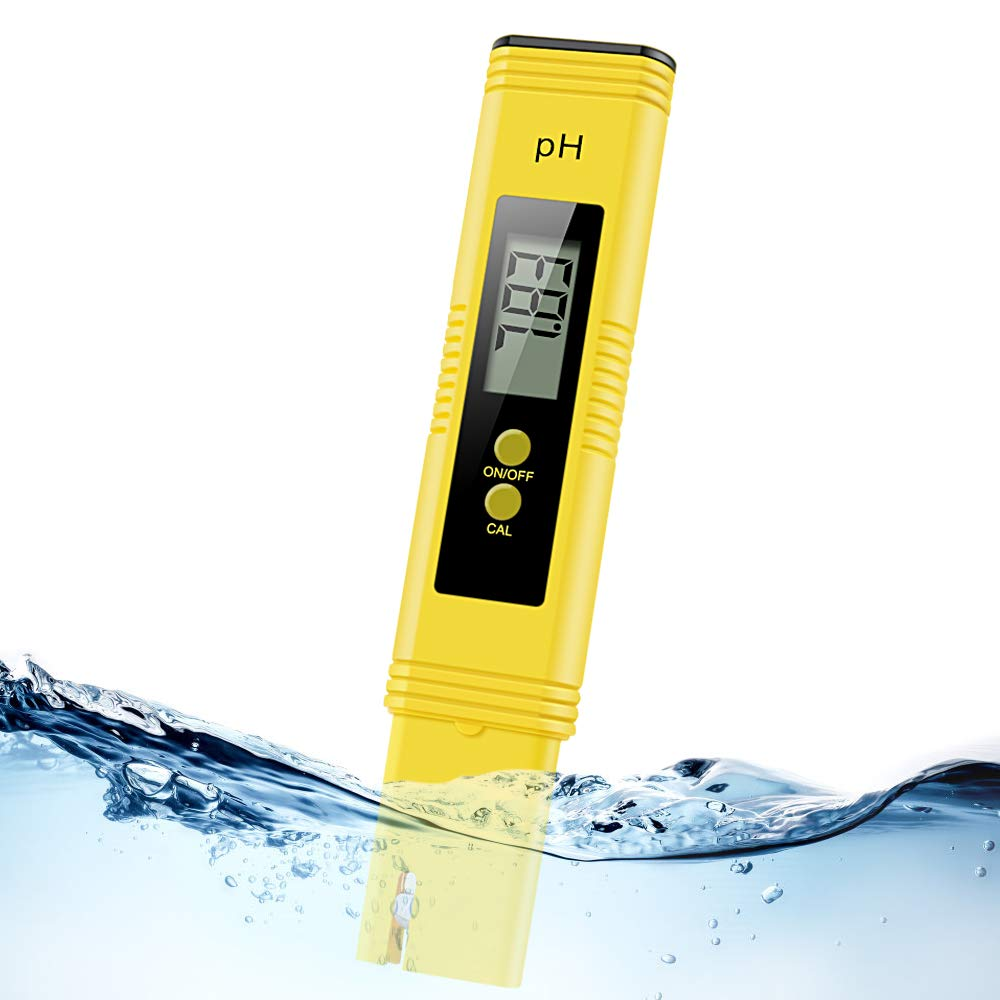 Digital pH Meter, Water PH Test Meter with 0.00-14.00ph Measure Range/PH Meter with ATC,Water Quality Tester for Household Drinking Water, Swimming Pools, Aquariums,Hydroponics by Middons