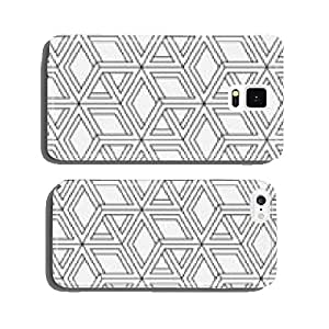 Seamless geometric pattern in op art design. Vector art. cell phone cover case iPhone5