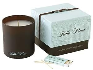 Belle Fleur Scented Candle-Orange Blossom Pomegranate-7.5 oz.