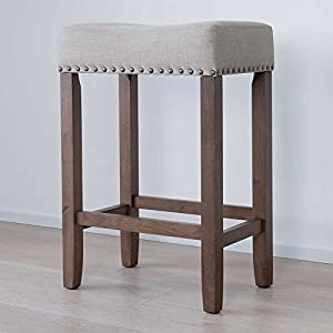 Nathan-James-21303-Hylie-Nailhead-Wood-Pub-Height-Kitchen-Counter-Bar-Stool-24-BeigeLight-Brown