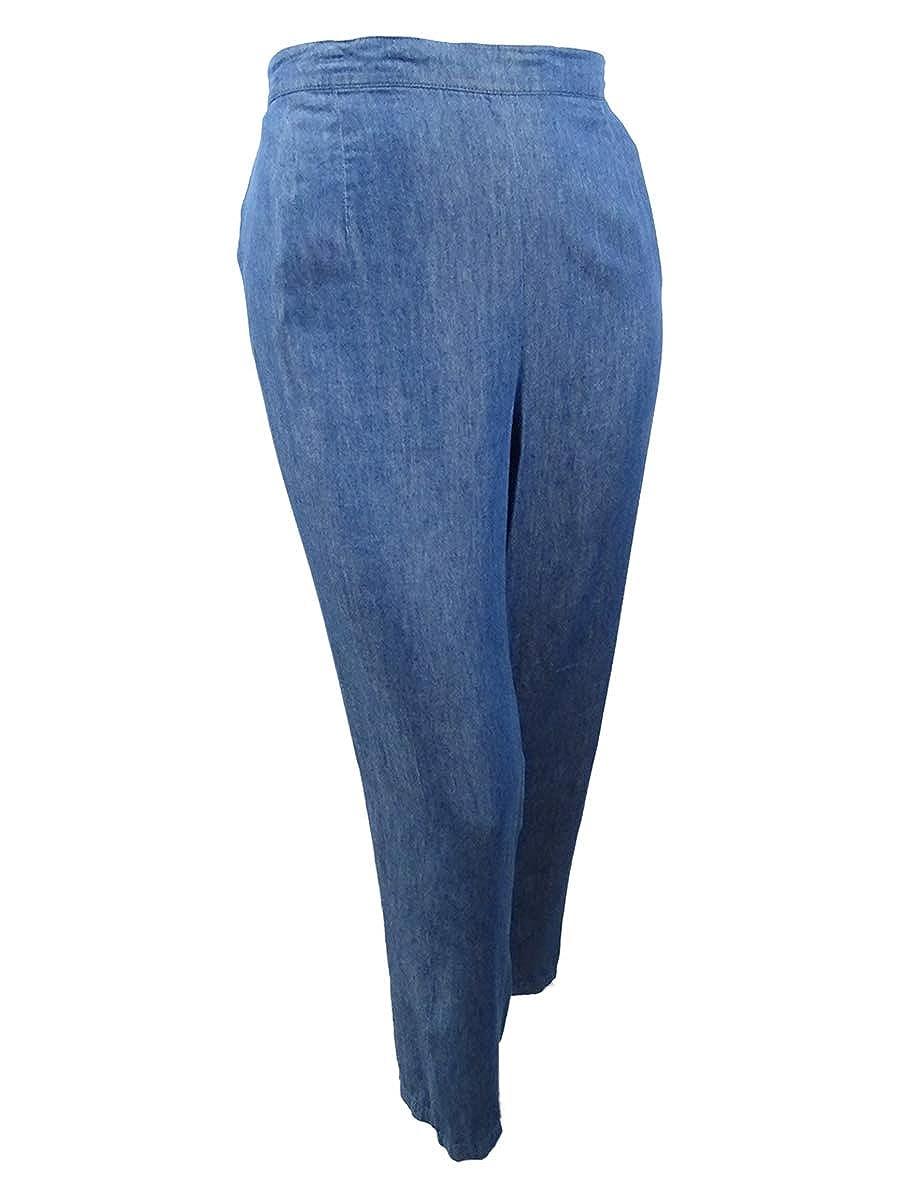 Denim Alfred Dunner Women's Plus Size Sun City PullOn Denim Pants