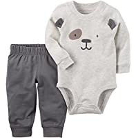 Baby Boys' 2-Piece Chest Face Bodysuit & Pants Set
