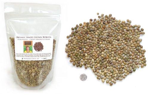 Philippine Robusta Green, Unroasted, Fundamental Coffee Beans, 1 pound