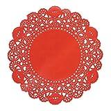 Doilykorea - 250pcs. Premium 6inch Red Round Lace
