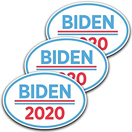 "10 PACK Biden President 2020 Joe Biden Democratic Bumper Sticker 3/"" x 8/""  Bs"