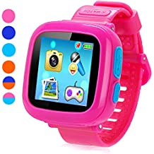 "Game Smart Watch for Kids, Kids Smartwatch, Children's Camera 1.5 ""Touch Screen Pedometer 10 Games Timer Alarm Clock Health Monitor Boys Girls Game Watches(Pink)"