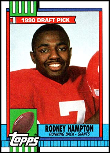 1990 Topps #48 Rodney Hampton RC NM-MT New York Giants Officially Licensed NFL Football Trading ()
