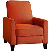 Homelegance Cavelle Fabric Push Back Reclining Chair, Orange