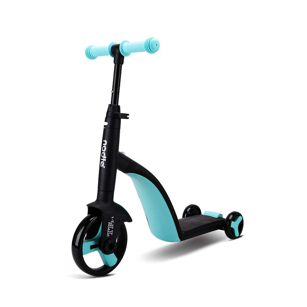 increíbles descuentos azul Mysida bambini' Bikes Niños Scooter Scooter Scooter Triciclo bebé 3 en 1 Balance Bike Ride en Juguetes  compras online de deportes