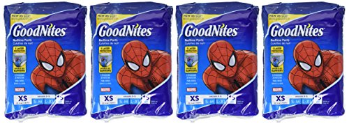 GoodNites Bedtime Bedwetting Underwear for Boys, XS, 15 Count (4 Packages), Packaging May Vary by GoodNites (Image #1)