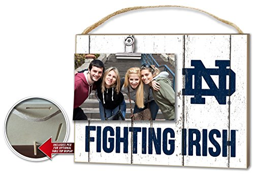 Kindred Hearts NCAA Notre Dame Fighting Irish Weathered Logo Clip-It Photo Frame