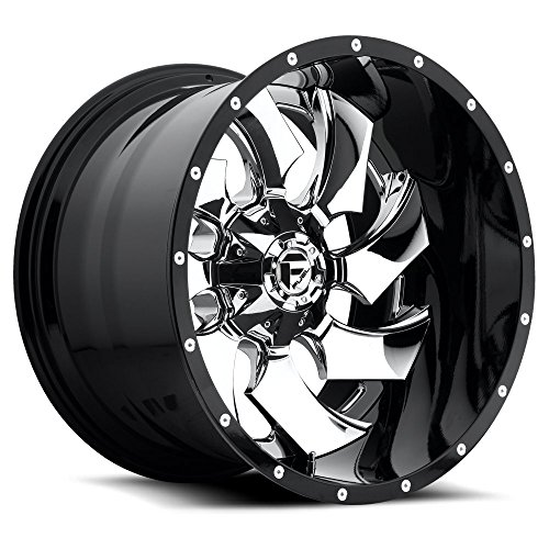 "Toyota Financing Deals >> 20"" Inch Fuel Off Road Cleaver Chrome Center / Black Lip 2-Piece Wheels Rims Only 