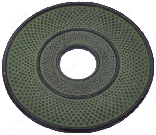 (M.V. Trading T7020GN Cast Iron Trivet Hobnail Design, 5½-Inch, Green)