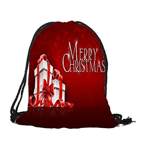 ✈ HYIRI Big Merry Christmas Candy Bag Satchel Rucksack Bundle Pocket Storage ()