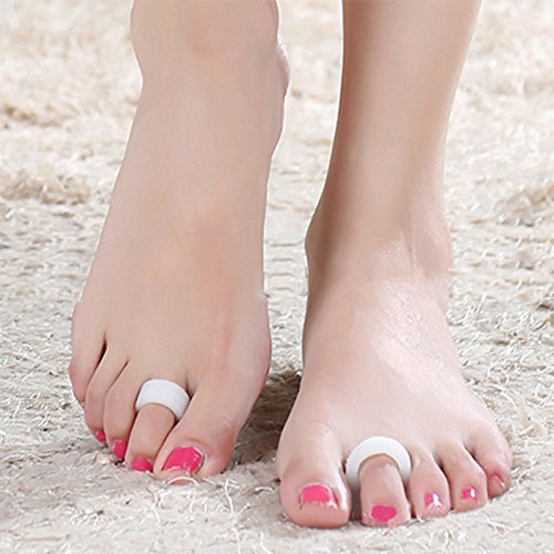 Zinnor Hammer Toe Cushion Gel Pads Loop Corrector Straightener for Curled Claw Mallet Toe Relief Crest