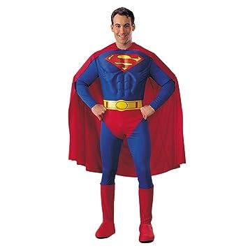 Costume Di Carnevale Da Adulti Superman Taglia Per Imitare Le Gesta