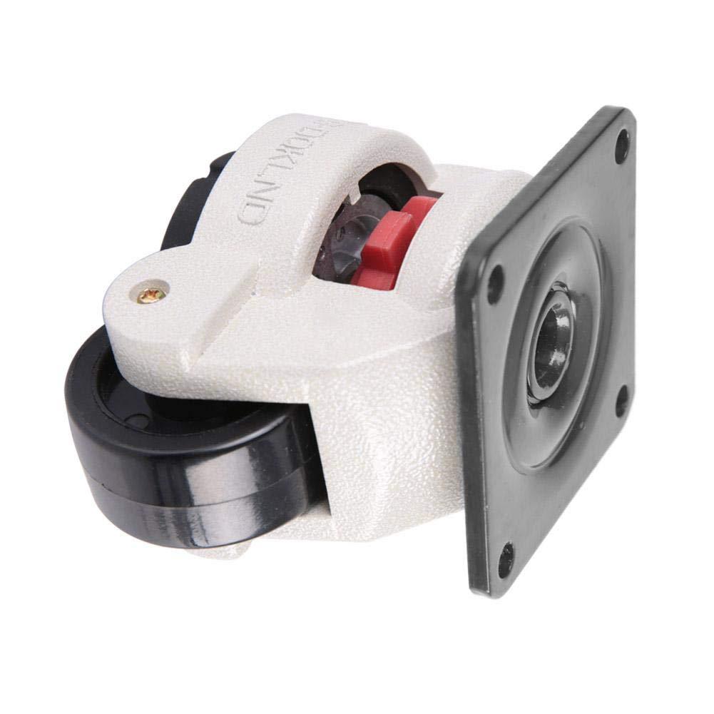 alliage daluminium Roulette pivotante pour machine industrielle capacit/é de 551lbs Roulette de nivellement r/étractable Nylon