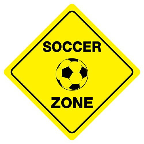 (SOCCER ZONE Funny Novelty Xing Sign)