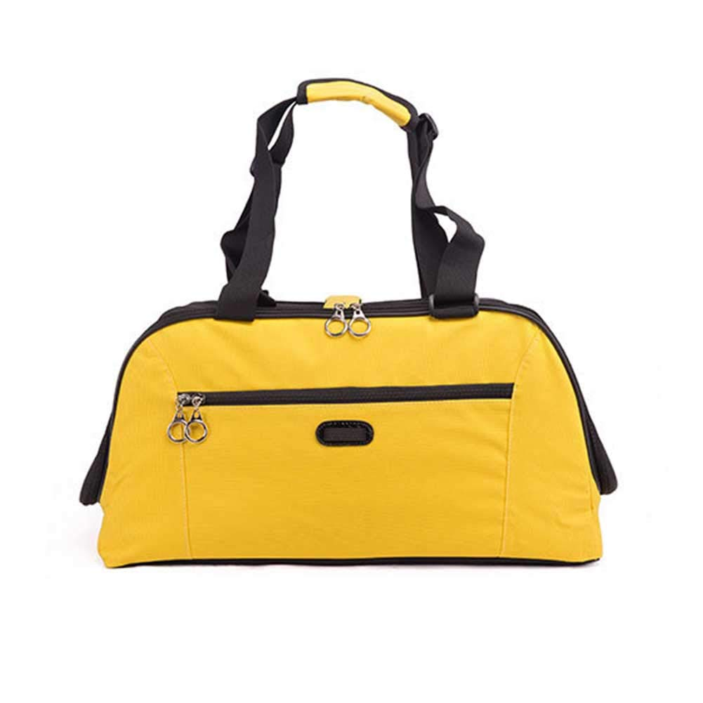 Yellow Long Elliot Pet Bag Comfort Strong and Sturdy Hand Backpack Travel Camping Dog Cat Pet Carrier Bag,Yellow
