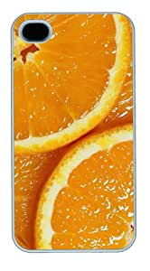 DIY cover juicy orange slices PC White Case for iphone 4/4S