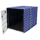 "Dog Crate Cover for Wire Crates, Fits Most 30"" inch Dog Crates. Easy to Put On, Take Off, and Adjust - Cover only - Blue -M -  Pethiy"