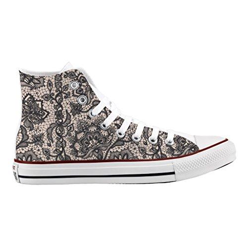 Sneakers Sexy Stampa Lace Scarpe Personalizzate All Star Converse Alta wnRRT4qX0