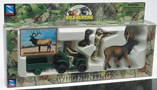 Playset Wild Hunting Assorted (You may receive Walleye , Rockmountainelk,Mallard,  Antelope, Turkey, Moose,Deer or Pheasant) ()