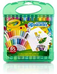 (4.7星) 绘儿乐Crayola 25色可水洗水彩笔套装,安全无毒,送40页填色画本,$10.44