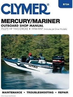 Mercurymariner outboards all engines 1990 2000 seloc marine clymer manuals b724 mercurymarirner outboard shop manual 75 275hp two stroke fandeluxe Gallery