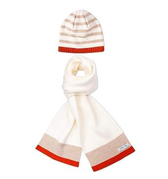351ab88da6009 Pirin Hill Ensemble hiver avec écharpe et bonnet assortis en laine Mérinos  - Ruban en Polycolon